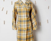 Vintage CUTE AND COZY Plaid Button Up Jacket
