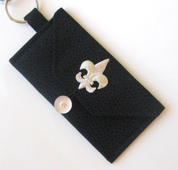 FLEUR DE LIS - Mini Wallet Keychain - (Card Holder)