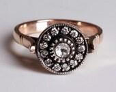 Gold diamond ring Ottoman Harem - SULTAN AT  WAR