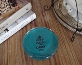 Glass paperweight- turquoise