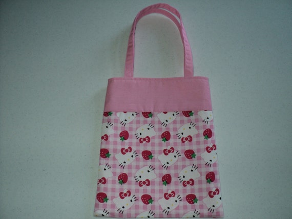 Fabric Gift Tote/Bags -  Hello Kitty