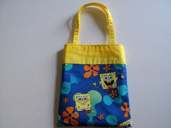 Fabric Gift Tote/Bag - Spongebob Squarepants