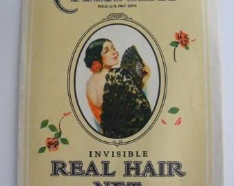 1920s Carmen Real Hair Hair Net Trueworth Medium Brown