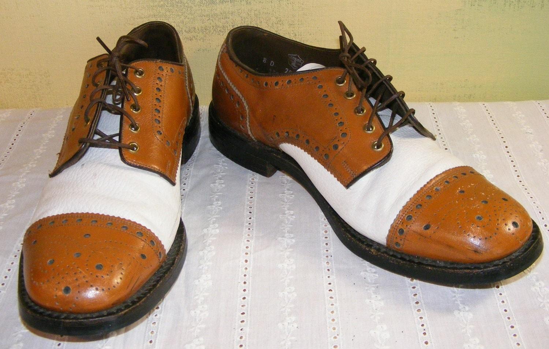 8d vintage worthmore shoes brown white spectator saddle