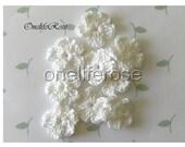 Small  Crochet Flowers WHITE