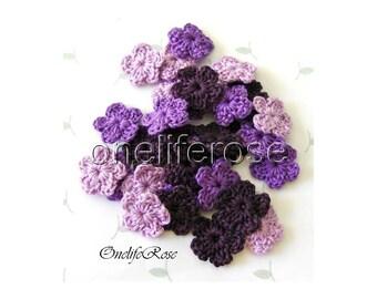 Mini Crochet Flowers VIOLET
