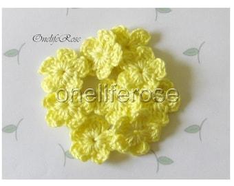 Crochet Flowers Lemon(00100)