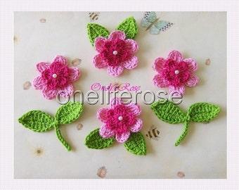 Handmade Crochet  FlowersPink-Cyclam