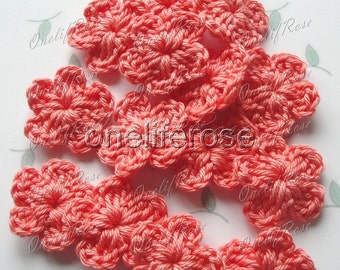 Crochet Flowers Coral(00243)