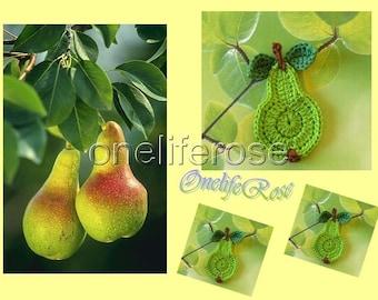 Crochet Pear 1 Piece