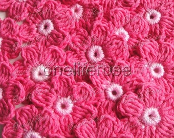 12 pieces Crochet Flowers