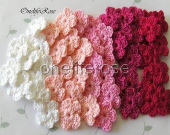 Mini Crochet Flowers 25 pcs