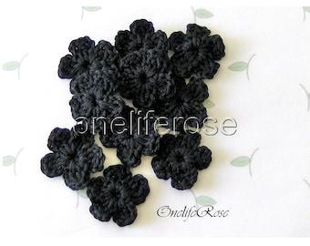 Crochet Flowers BLACK (00110)