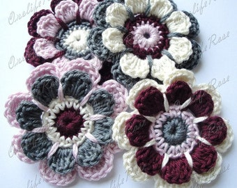 Crochet Flowers 1 pieces