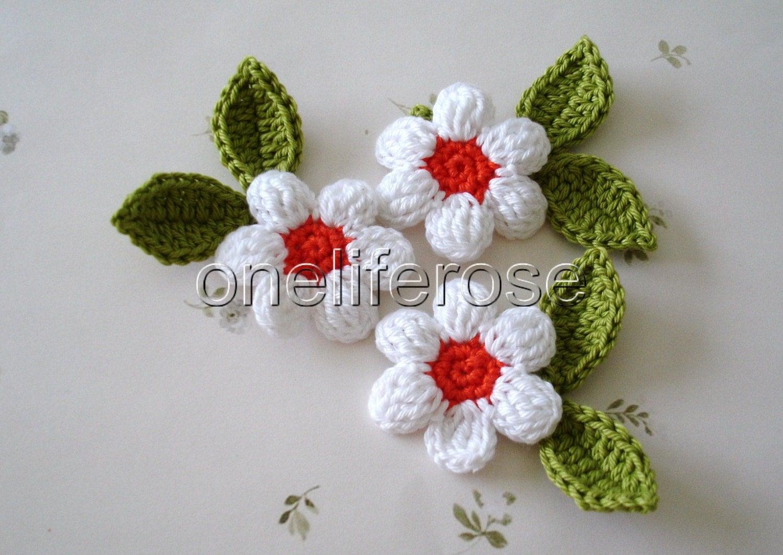 Crocheting Flowers : Crochet Flowers by OnelifeRosen on Etsy