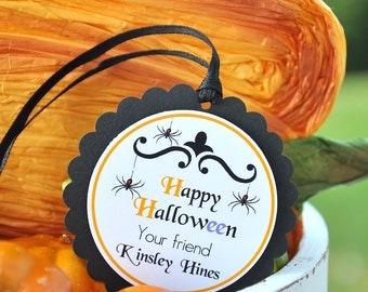 Halloween Hang Tags, Halloween Gift Tags , Halloween Favors- SET OF 12