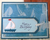 Sail Boat Birthday Card