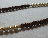 Champagne and Chocolate Brown Pearl Necklace