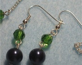 Custom Listing for Ann-Fern Green and Navy Earrings