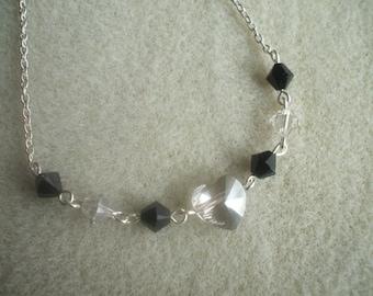 Swarovski Crystal Silver Shade Heart Necklace
