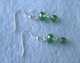 Fern Green Sparkly Earrings