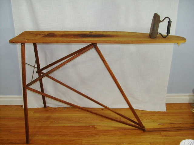 Vintage Wood Ironing Board National Washboard by SirEdmondsVintage