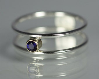 1 Stone Ring 14K (Sapphire) Made to Order
