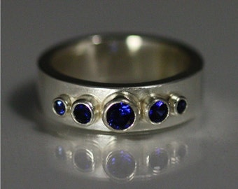 5 Stone Crown Ring (Sapphire) made to order