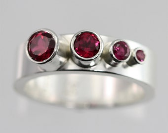4 Stone Sequence Ring (Ruby) made to order