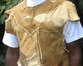 Brain Tanned Buckskin Leather Tunic
