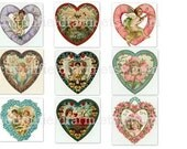 Vintage Valentines Digital Sheets Victorian Hearts and Flowers 3 Sheets C-100