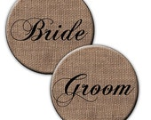Burlap Wedding Favors, 2.25 Inch Mirrors for Bridal, Shower, Party Favors Your Choice, Set of 12.