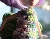 Lilacs - Scarf for your Blythe, Pullip or other fashion doll