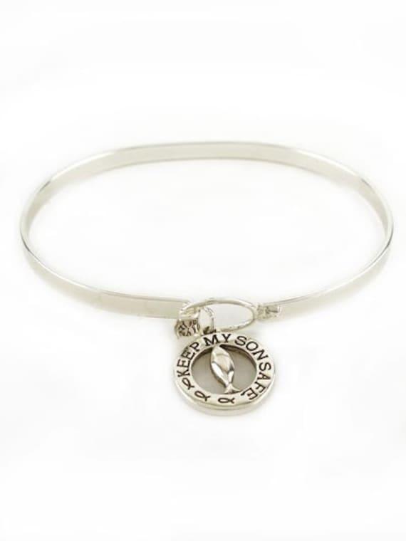 Keep My Son Safe Bracelet By Annievs On Etsy