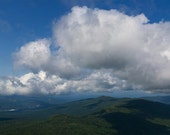 New Hampshire's White Mountains Panorama - 8x20 Color Nature Landscape Photo Print - Green Mountains Blue Sky Scenic Adventure Decor