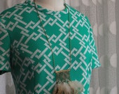 Vintage MINT Puritan: Forever Young Geometric Mod Stretch Dress