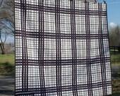 Quilt Japanese Art Textile Geometric Indigo & White Contemporary Primitive Asian Blue Custom Quilting