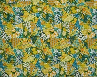 Utility Art Textile Beach Picnic Twin Full Bed Quilt Spring Cheater OOAK