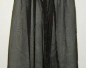Nightdress black lace and organza