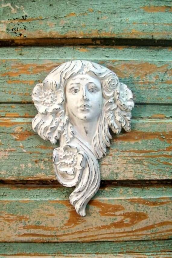 Cottage Garden Wall Decor Cast Iron Goddess