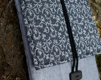 Apple iPad 1 or 2 Sleeve Case Cover with flap and pockets/ padded/ linen
