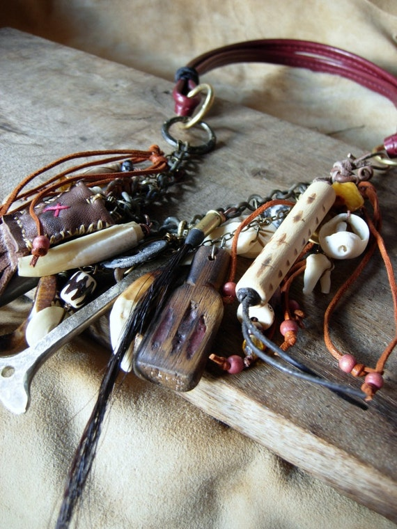 The Warrior - talismanic necklace- Reserved for Sherri Mohan