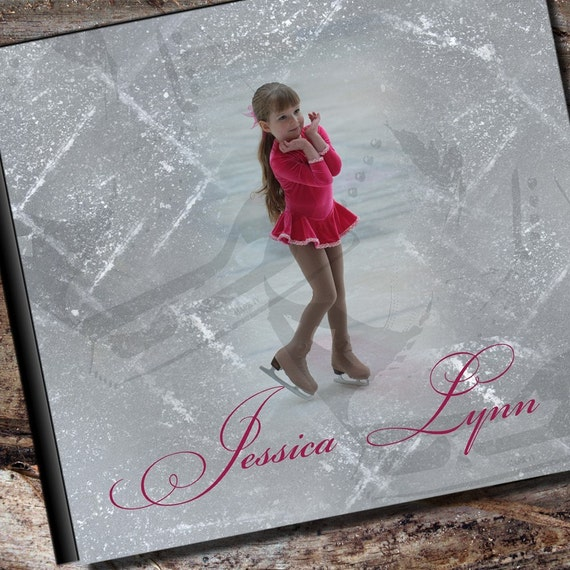 Custom figure skating photo album or scrapbook by albumoptions - Customiser album photo ...