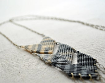 Triple Chevron Fade Necklace