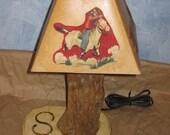 Vintage Western Cactus Lamp - Refurbished