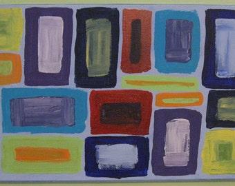 "Original Artwork - Acrylic Painting - Dancing The Blues - 24"" x 12"""