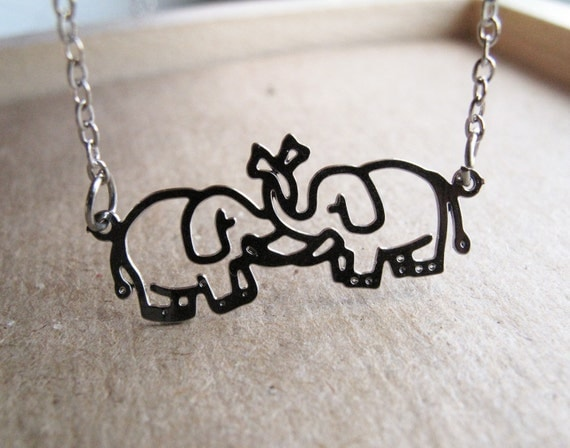 Trunk Love Necklace in Sterling Silver