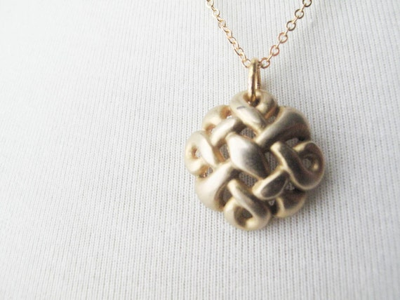 items similar to gold knot button necklace standard