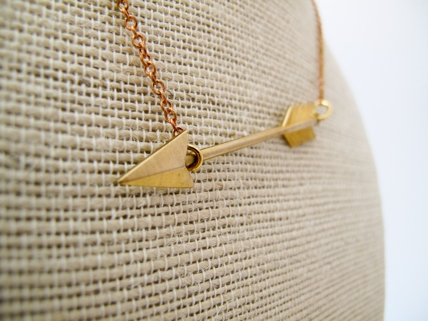 Cupid S Arrow Necklace In Gold Last One
