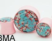 Sakura Cherry Blossoms BMA Plugs 1 1/16 inch 27mm